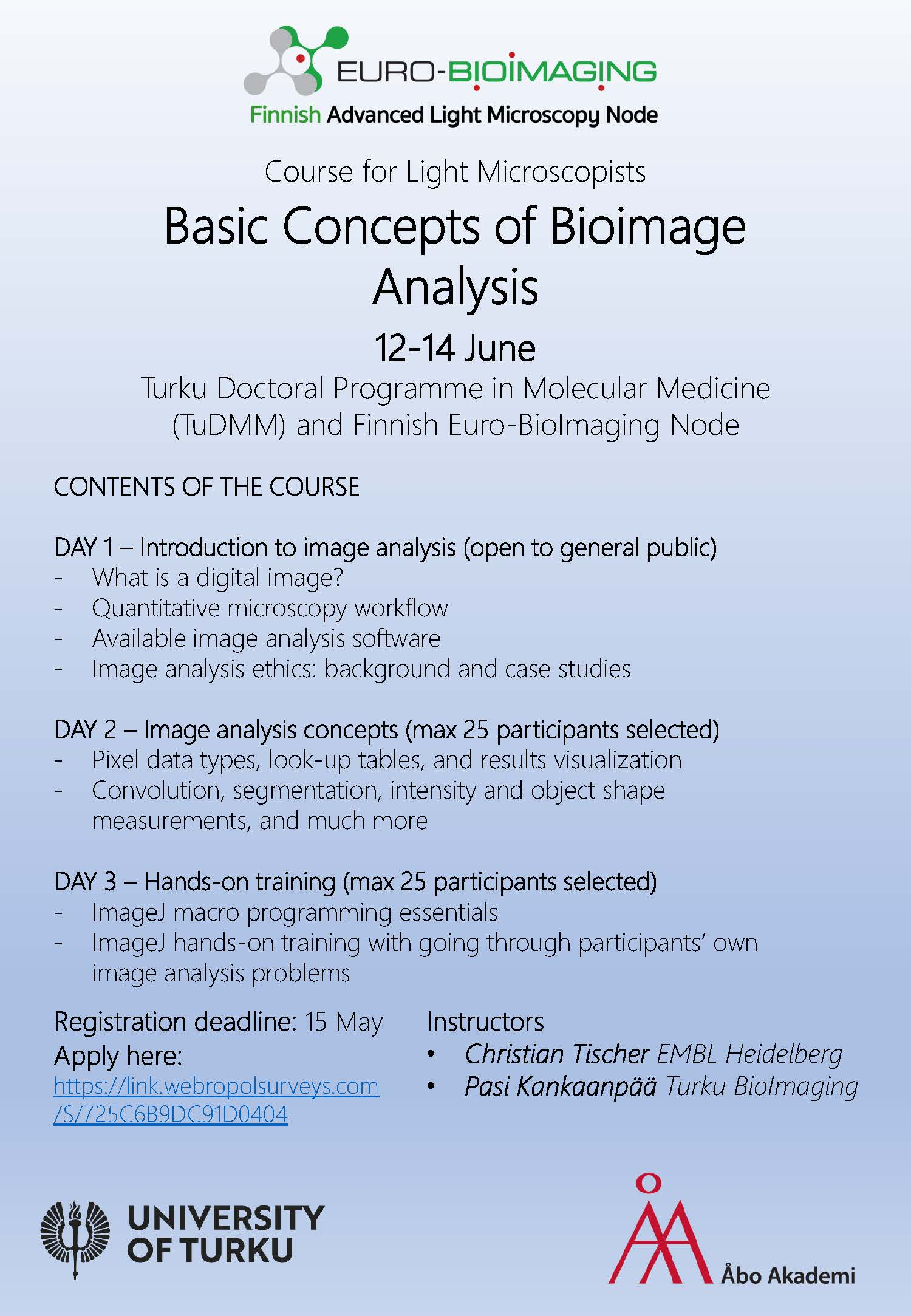 Basic concepts in BioImage analysis
