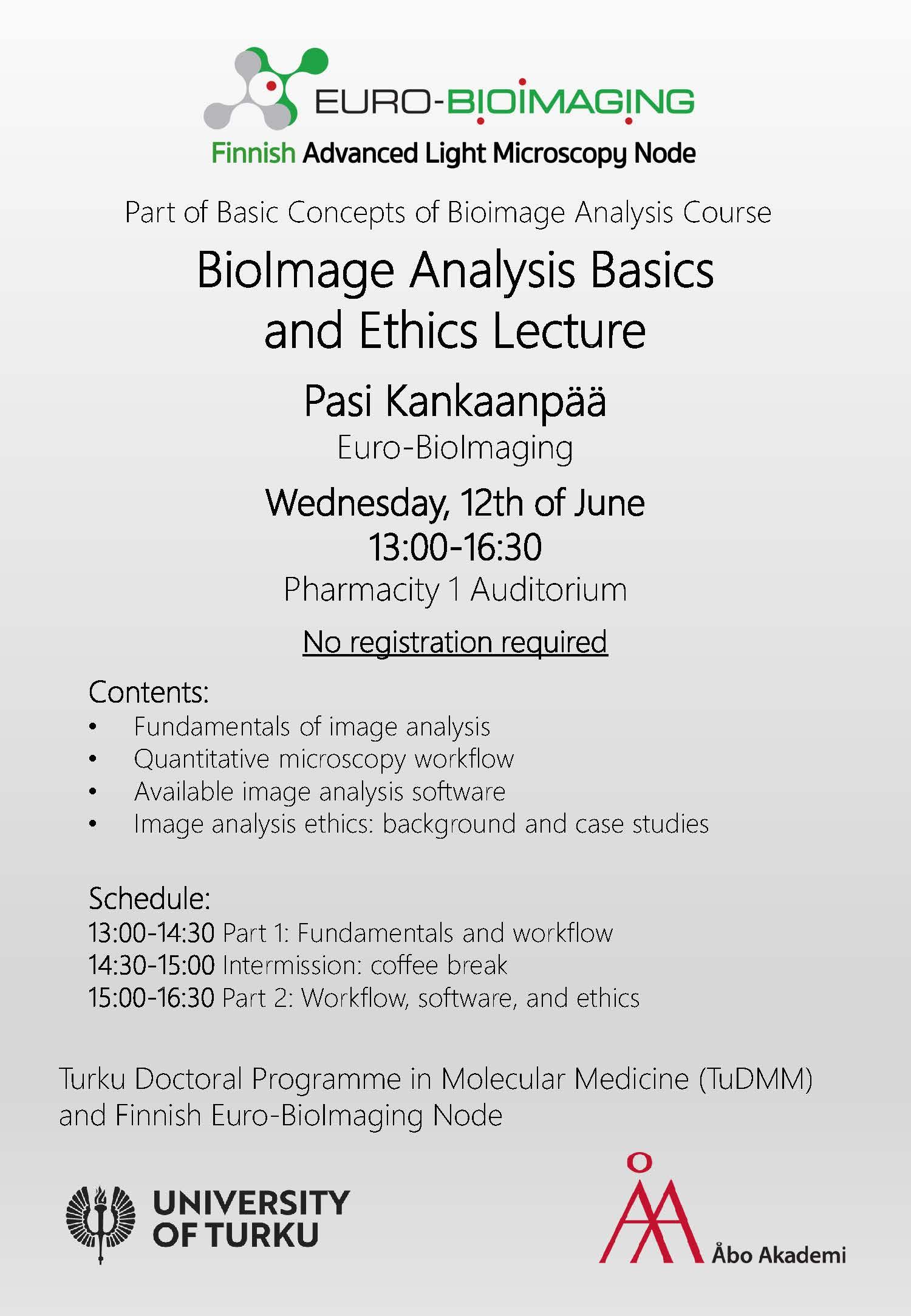 Lecture: BioImage Analysis Basics and Ethics