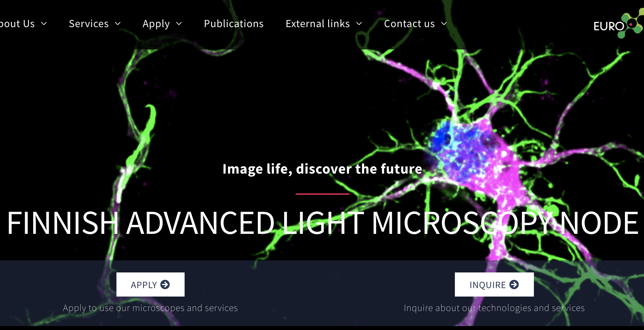 Finnish Advanced Light Microscopy Node, new website