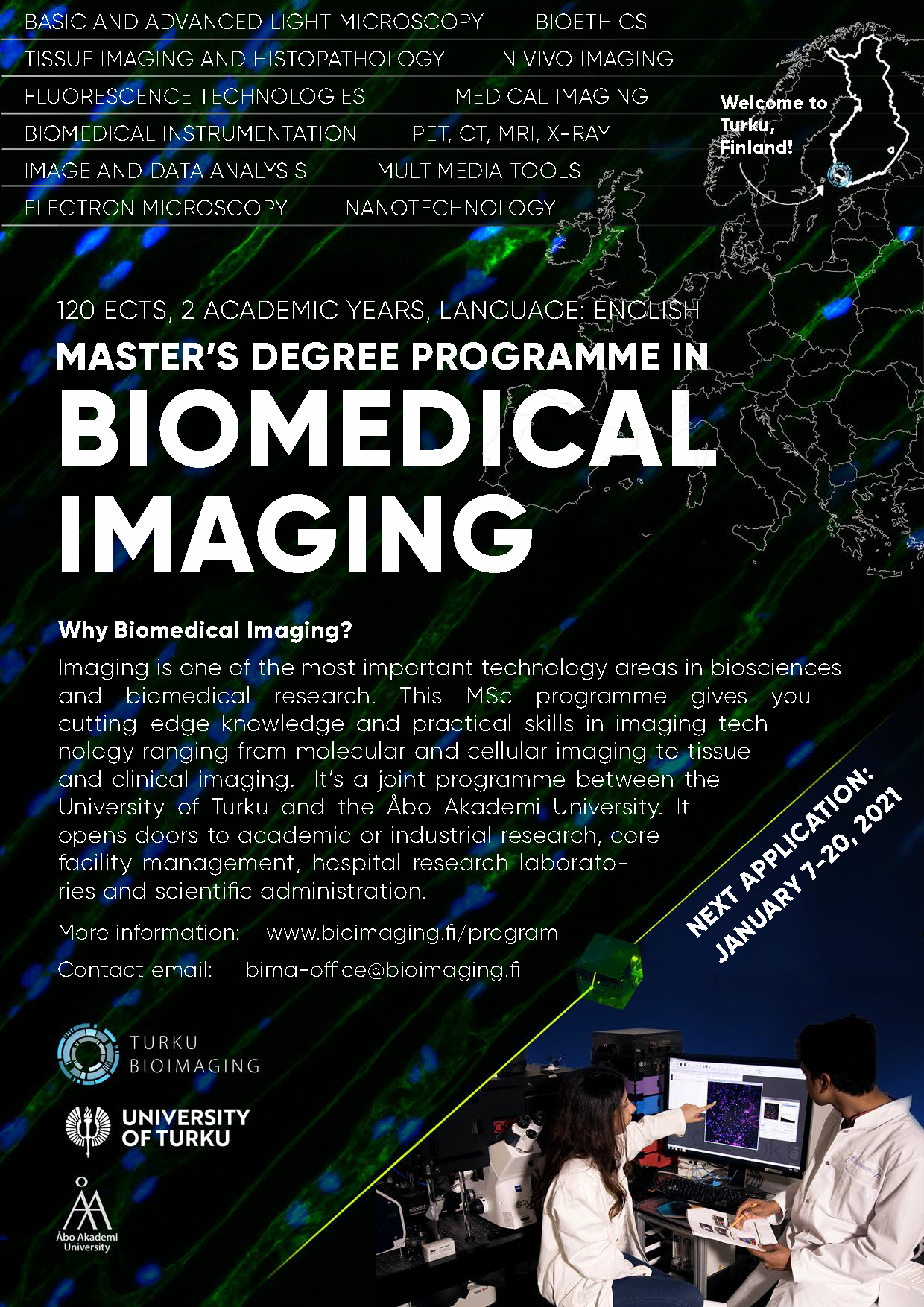 Apply now! Call for BioImaging masters in open now!
