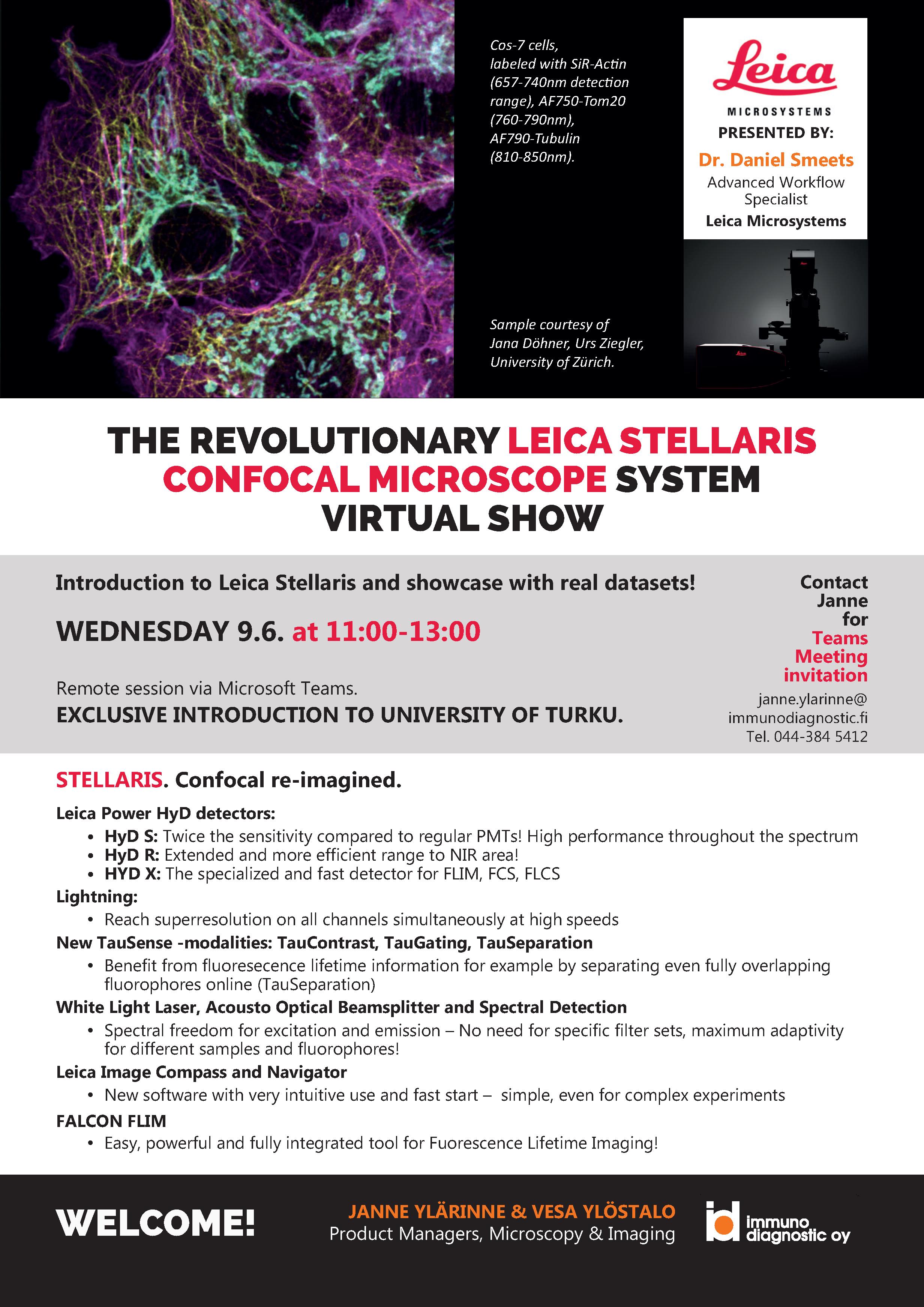 Welcome to Leica Stellaris virtual show